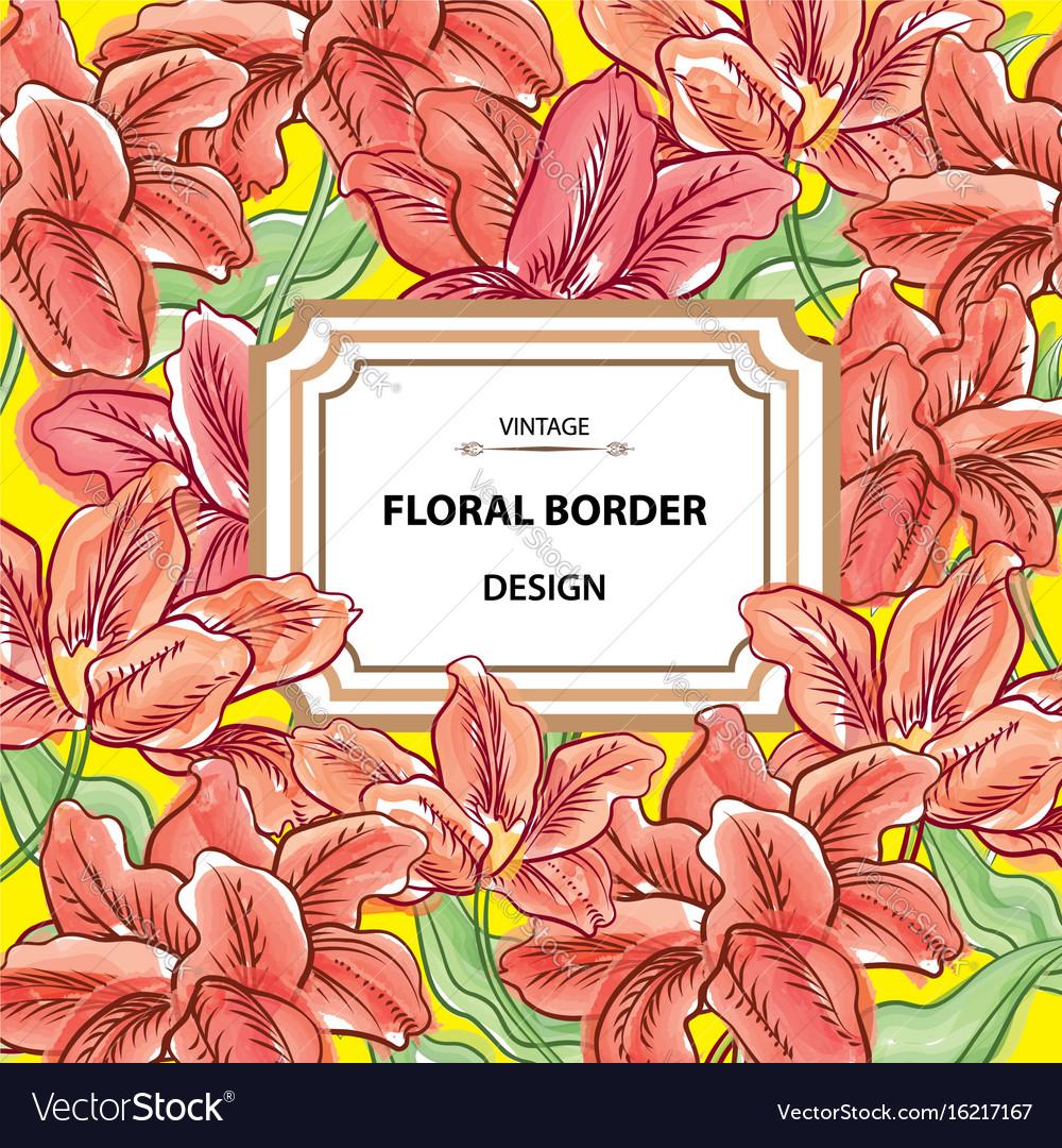 Floral background flower bouquet cover flourish vector image izmirmasajfo