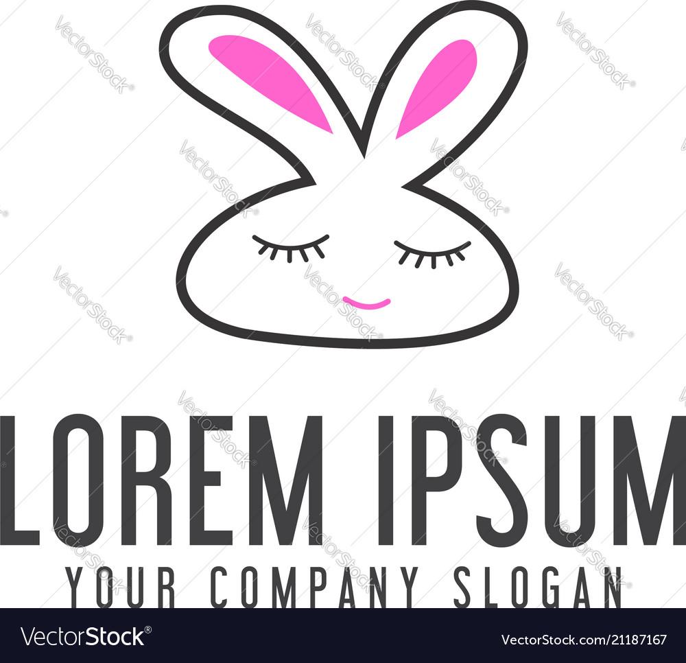 Funny rabbit logo animal logo design concept