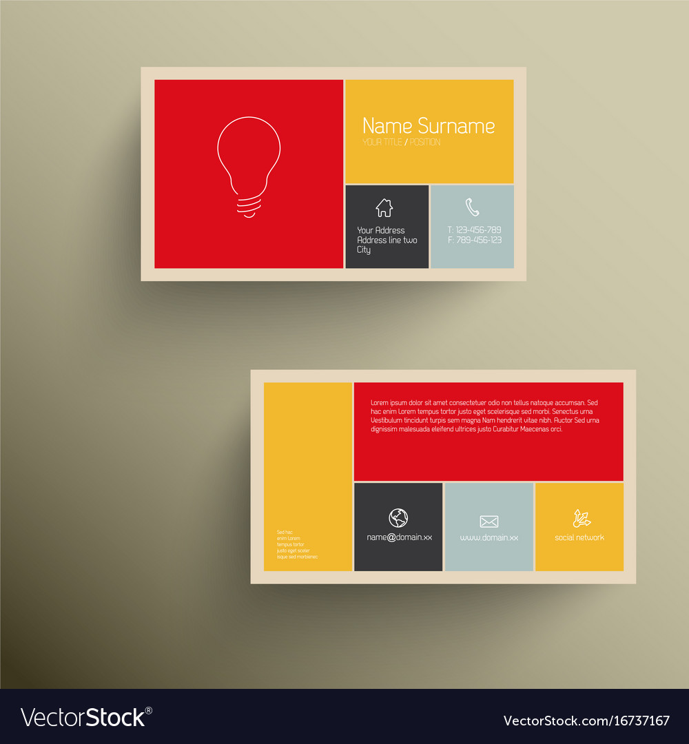 Modern Business Card Template With Flat Mobile Vector Image
