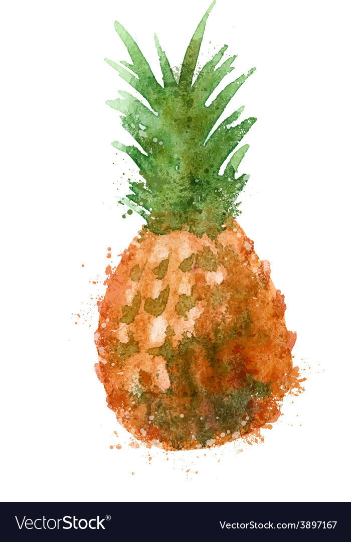Pineapple logo design template food or