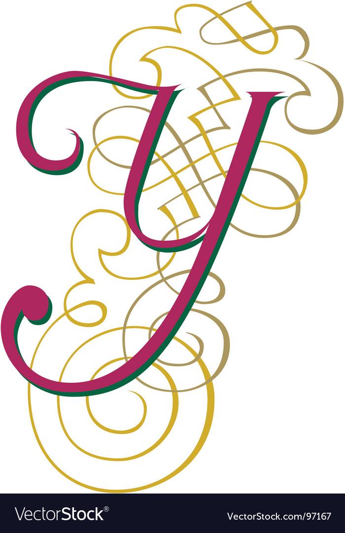 Script letter y