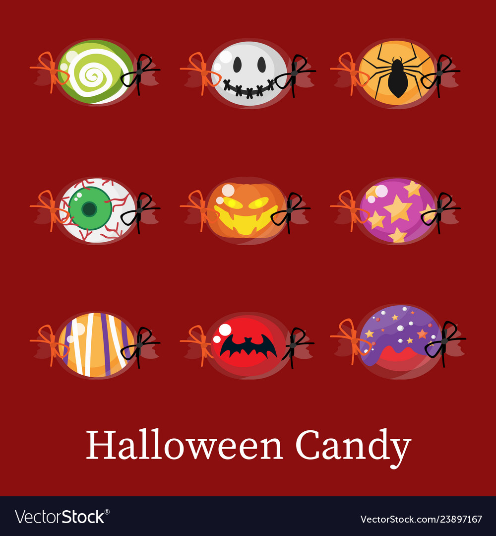 Set of halloween candy