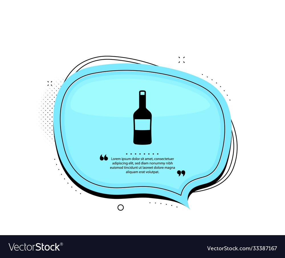 Wine bottle icon merlot or cabernet sauvignon
