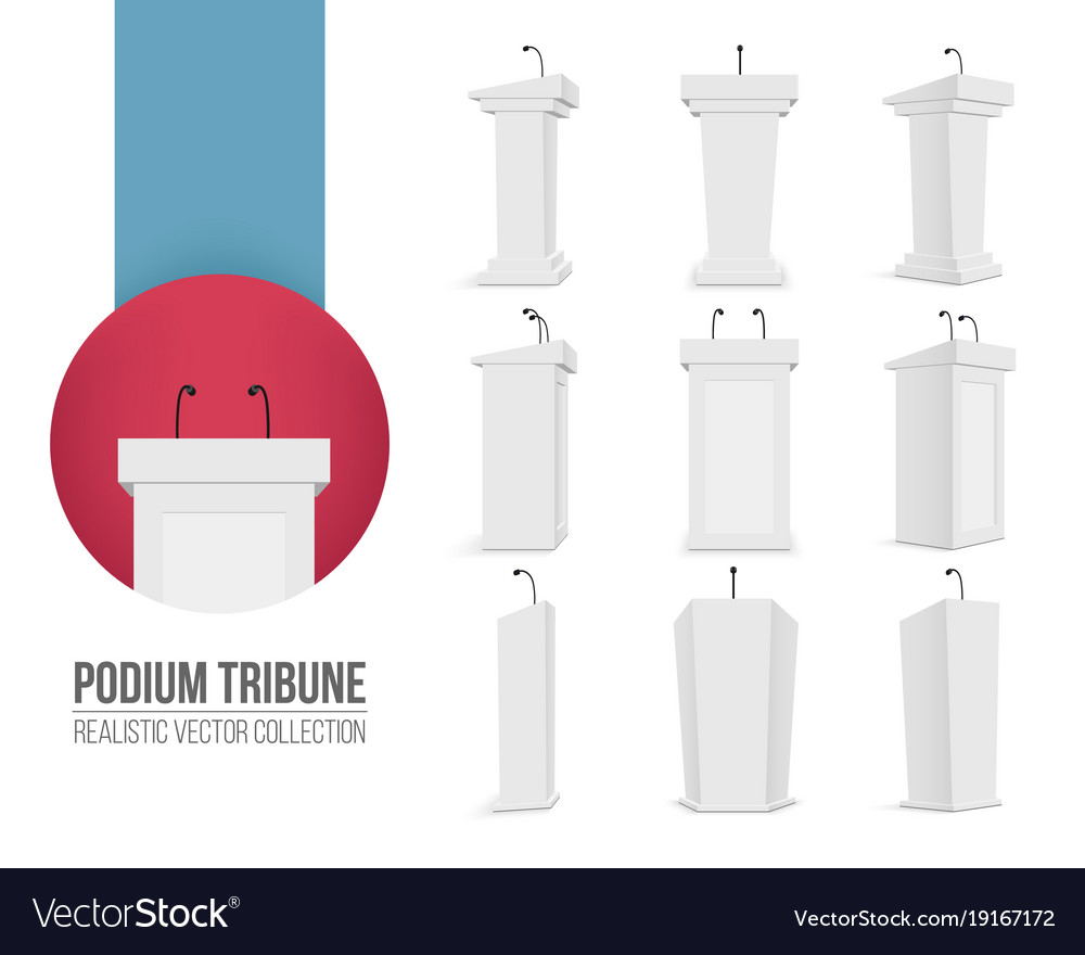 Creative of podium tribune