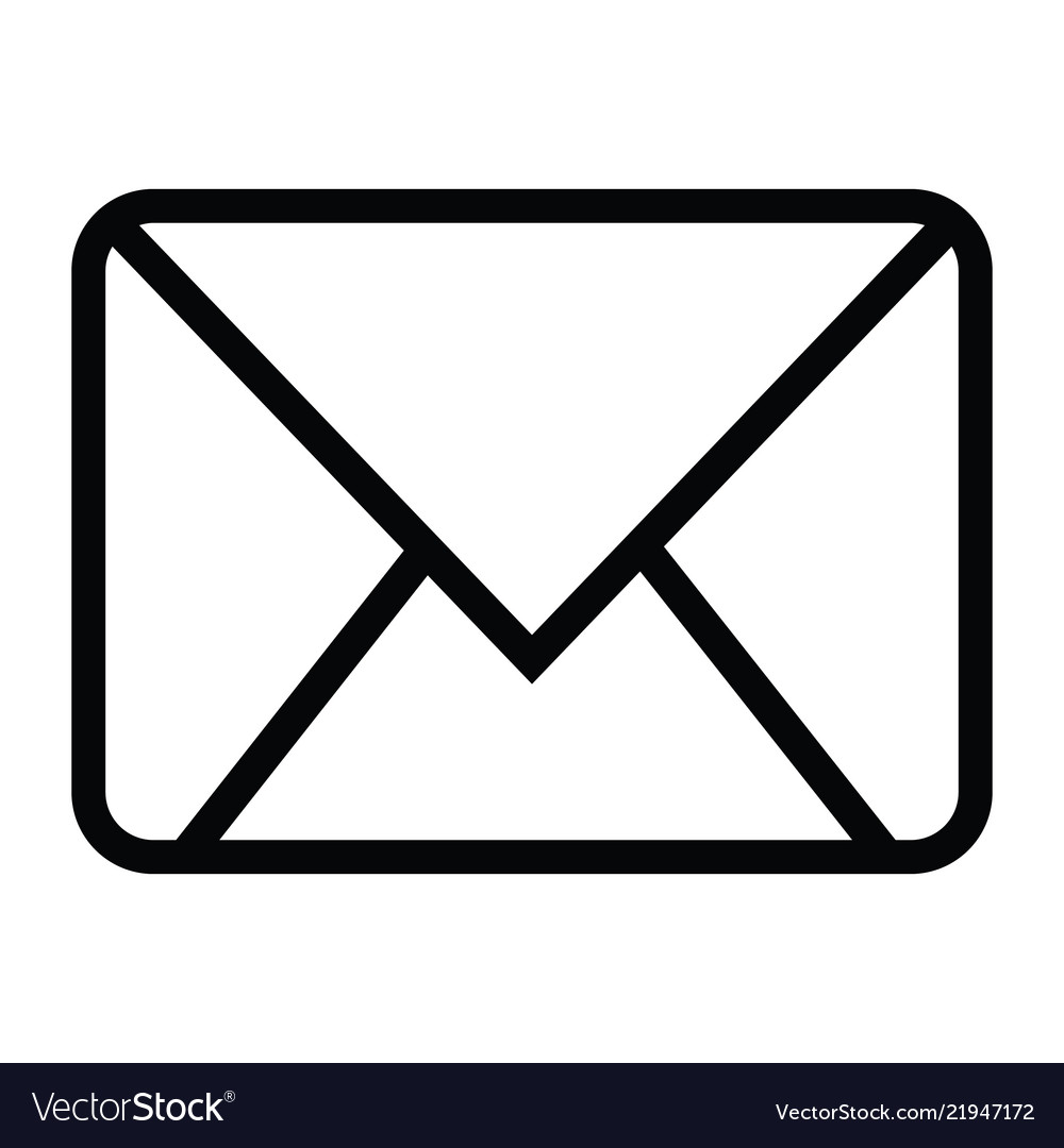 Envelope close icon with outline style