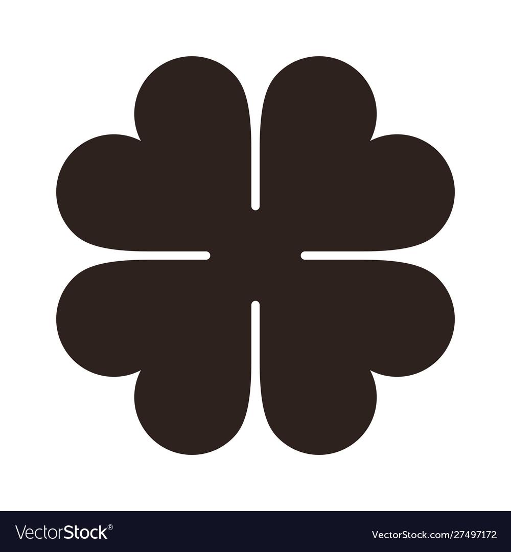 Four leaf clover icon saint patrick symbol