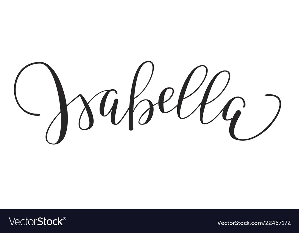 Girls name - isabella vector image