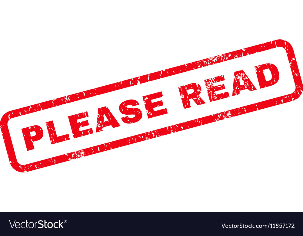 Please Read Rubber Stamp vector image