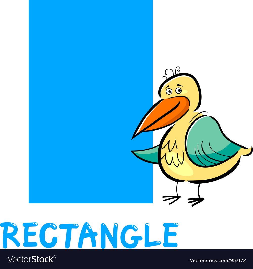 Rectangle Shape With Cartoon Bird Royalty Free Vector Image