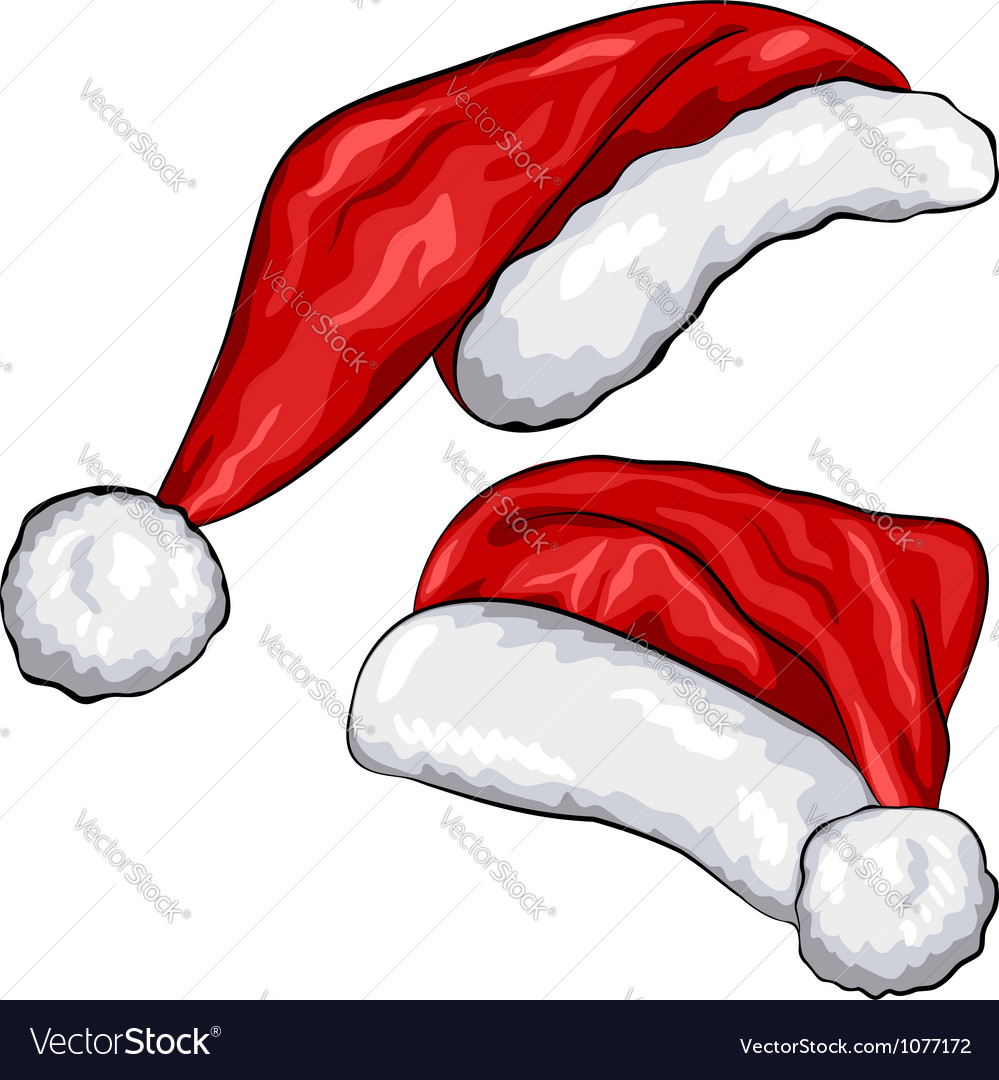 Red Christmas Santa Claus hats