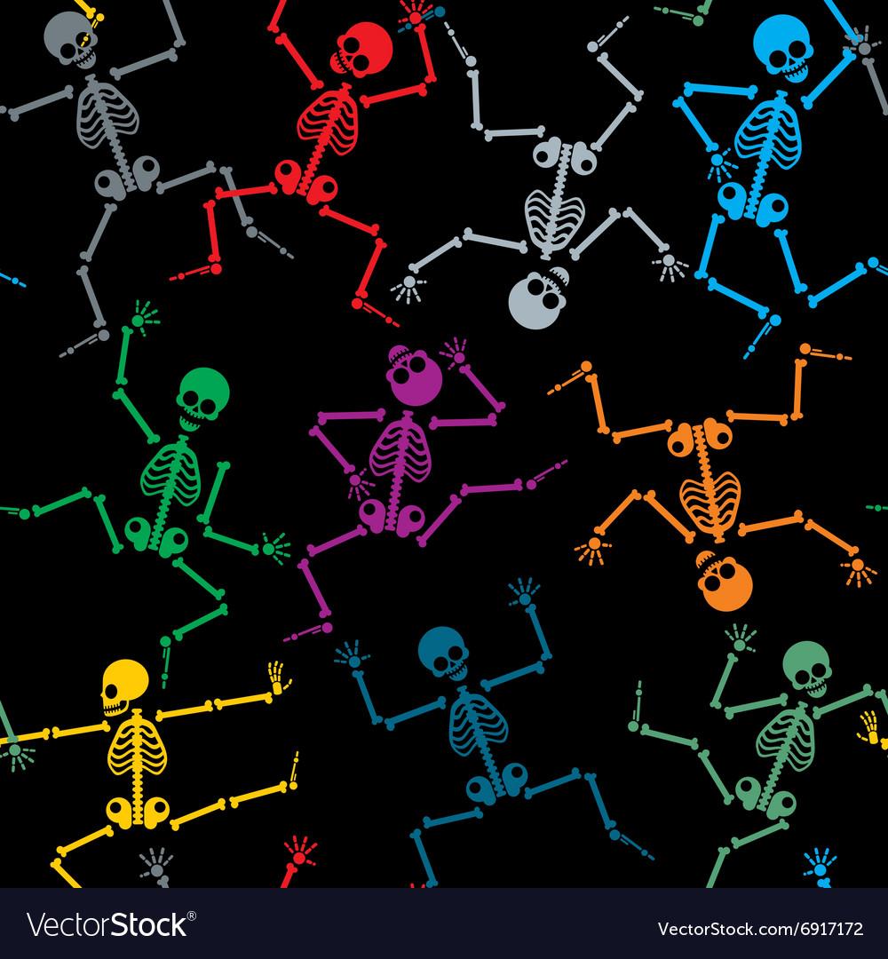 Skeletons seamless pattern vector image