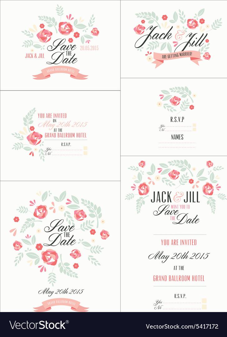 Wedding Invite designs vector image