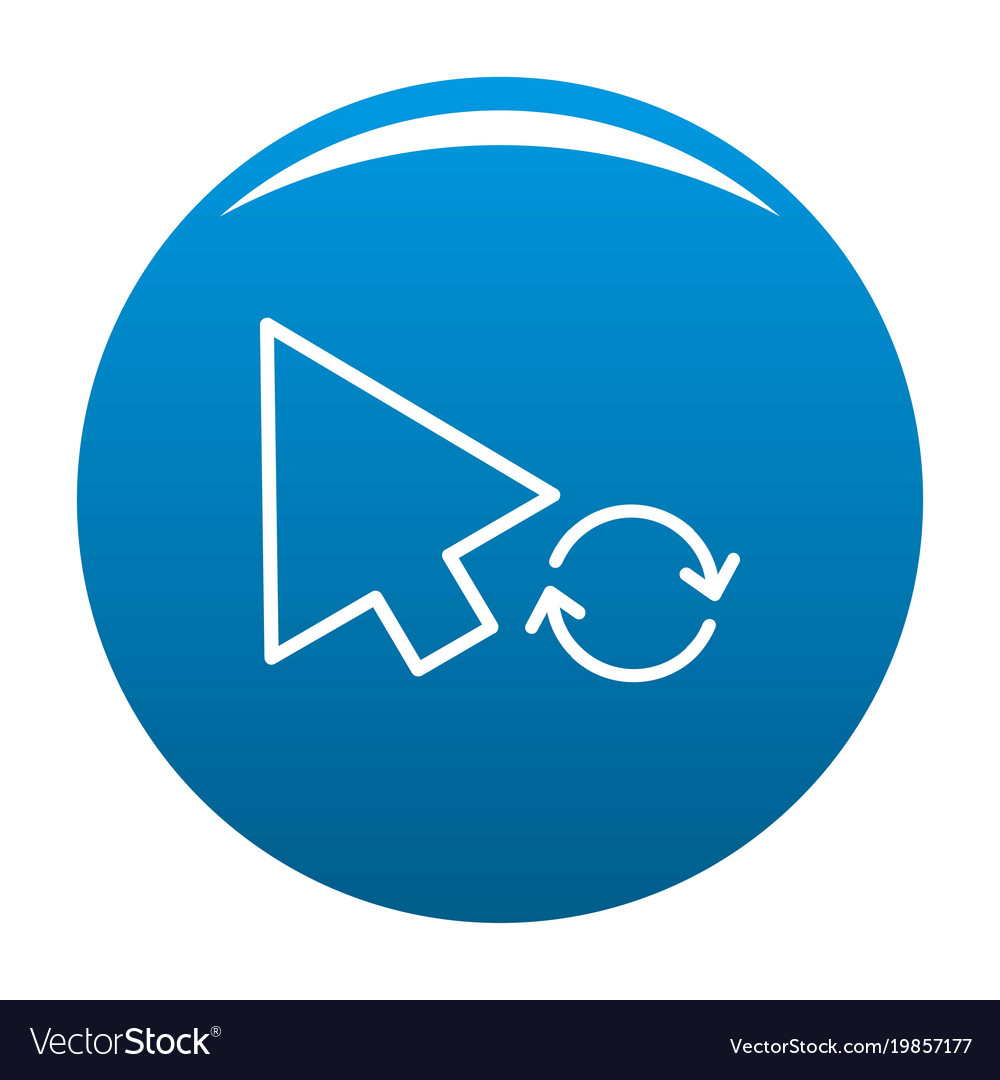 Arrow cursor loading icon blue