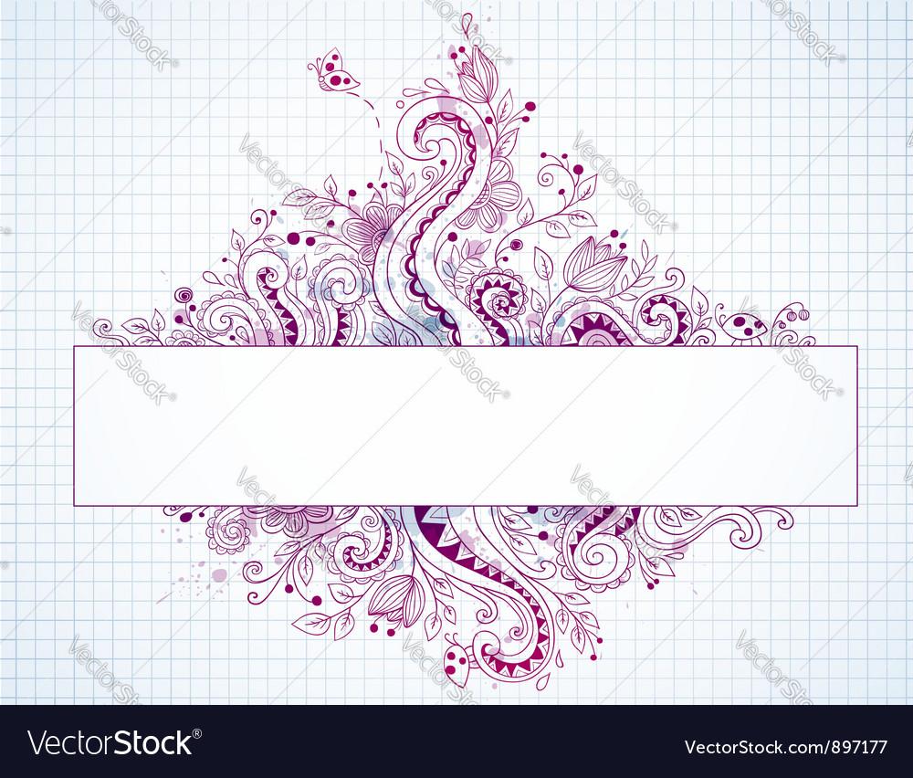 Banner hand drawn