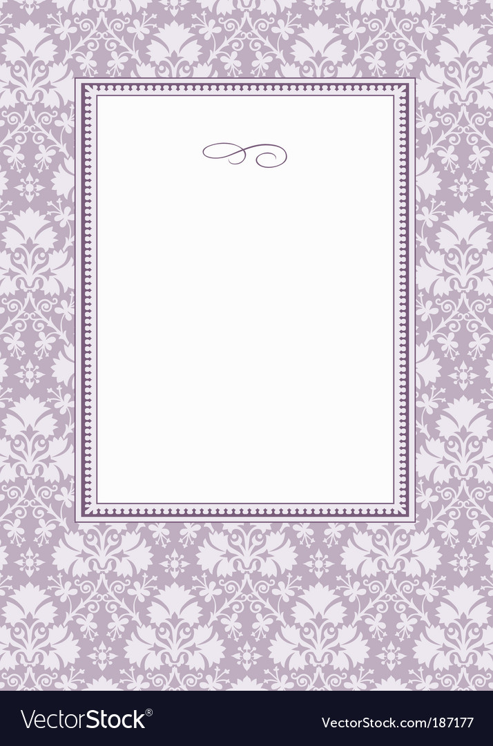 Frame and floral pattern
