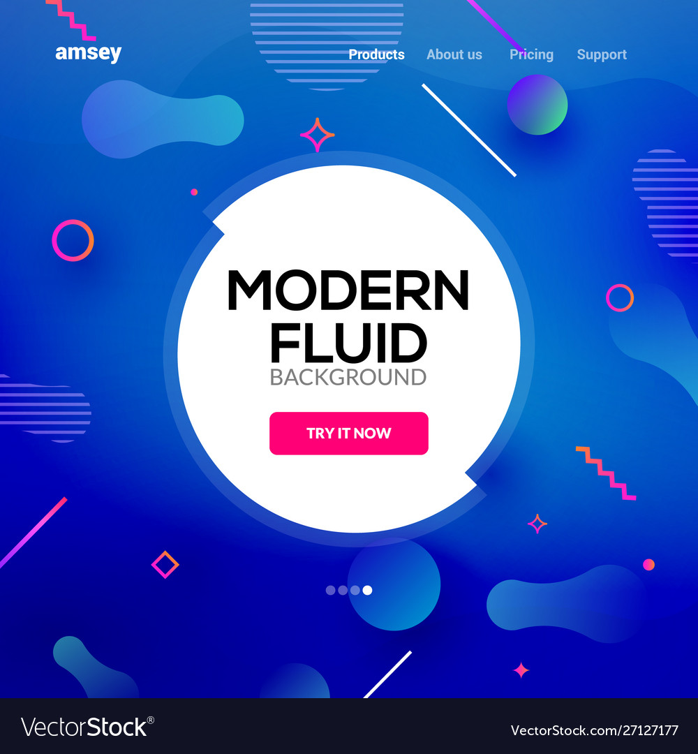 Modern abstract fluid background gradient liquid