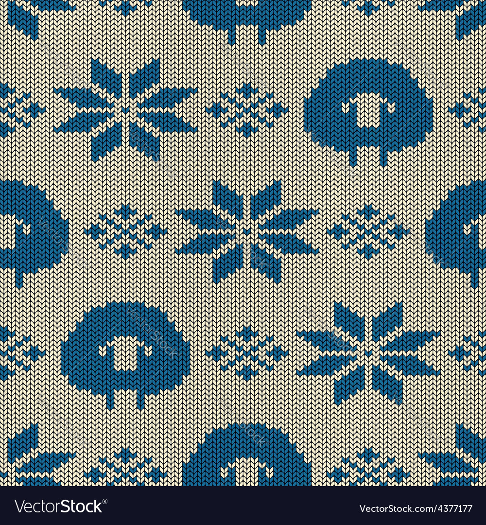 Scandinavian seamless knitted pattern Royalty Free Vector