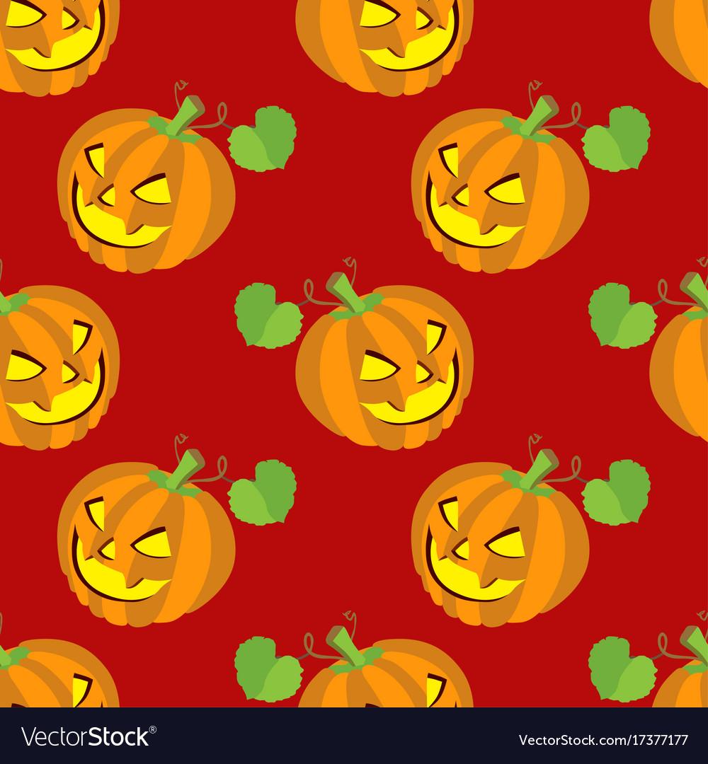 Seamless halloween backgrounds vector image