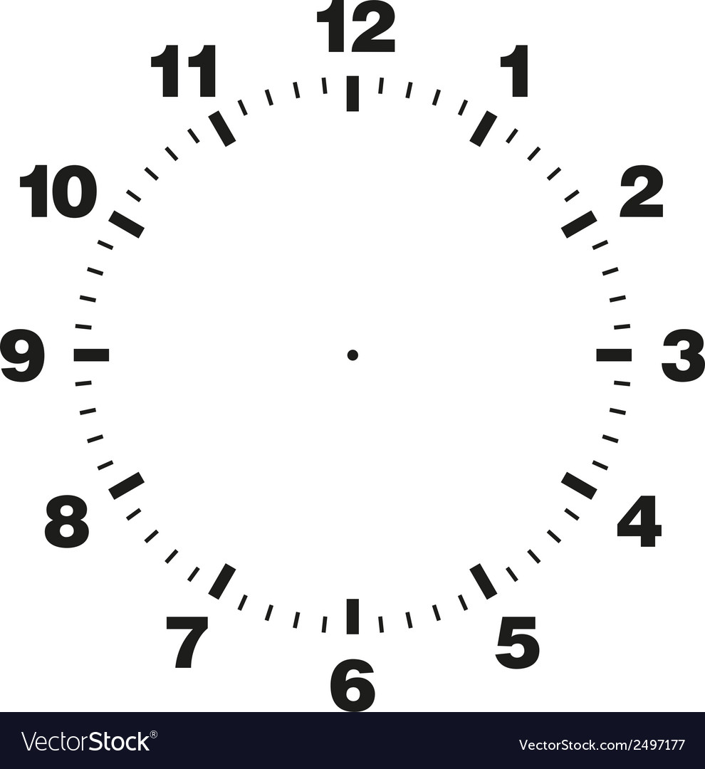 template of clock dial royalty free vector image