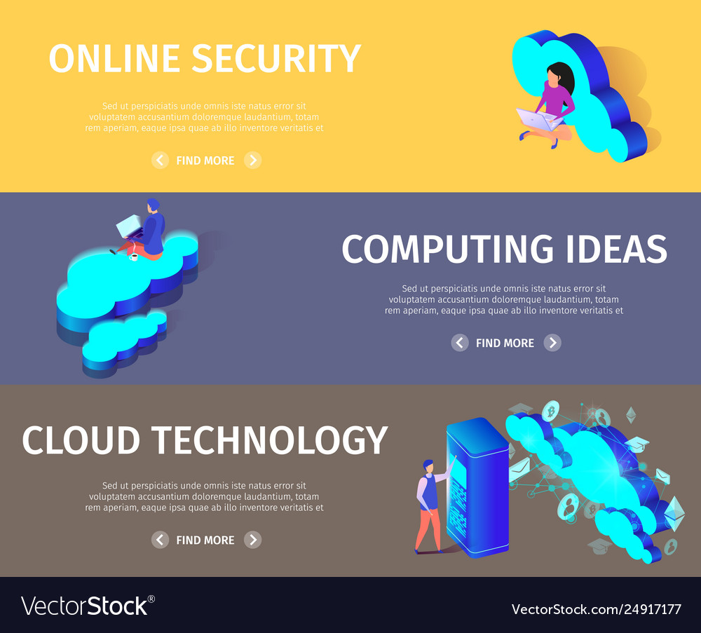 Web cloud technology and networking concept