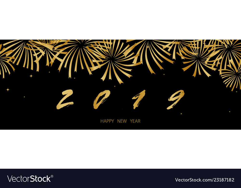 2019 happy new year background texture with golden