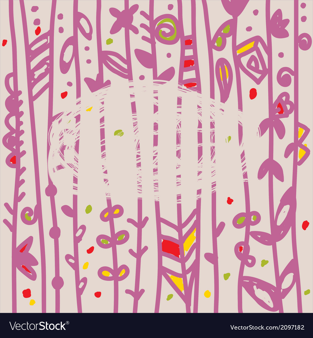 Abstract floral background with frame