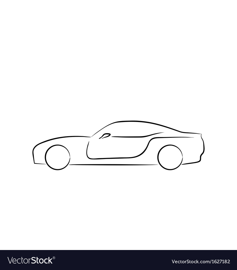 Abstract sport car profile vector image