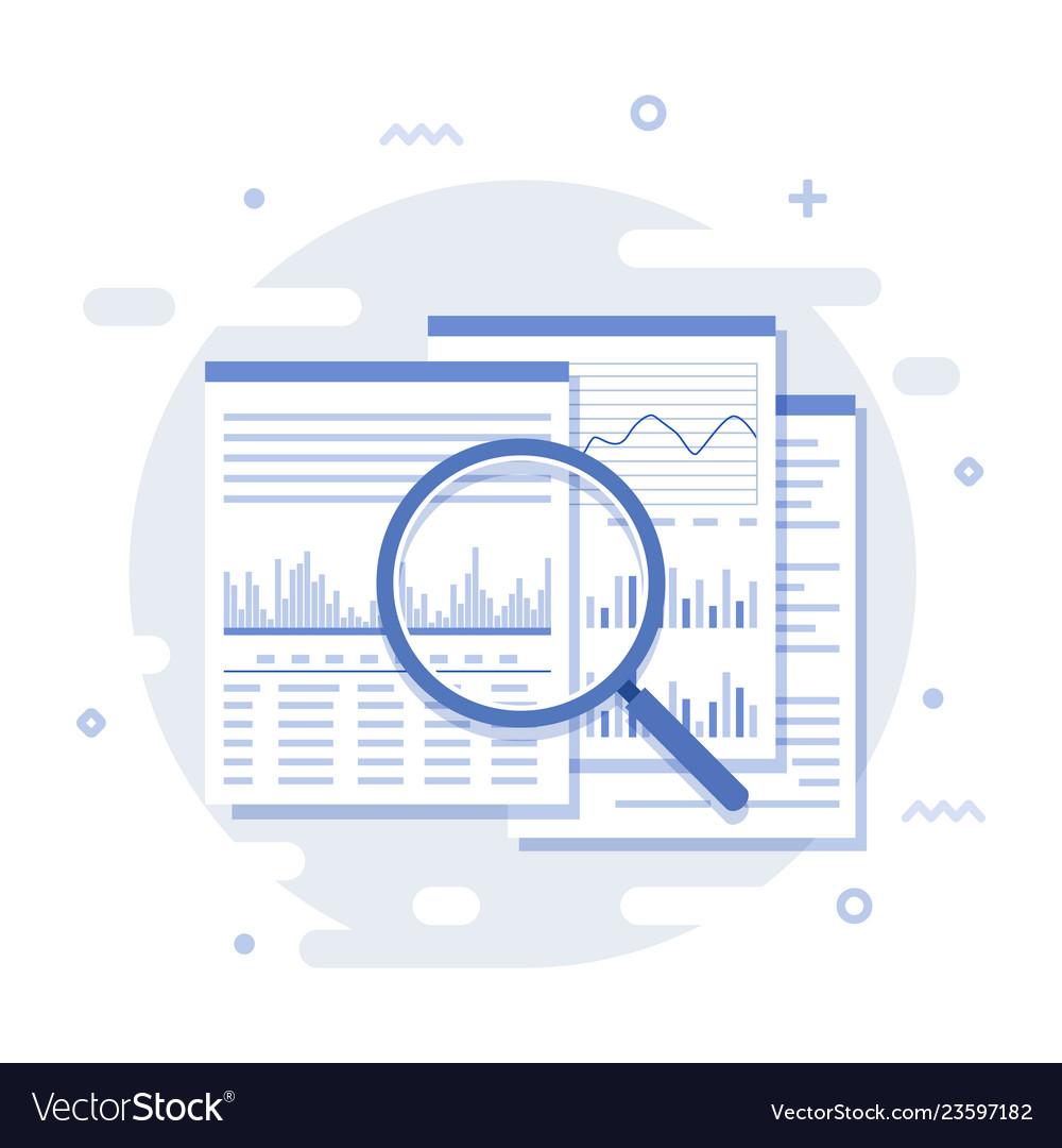Business data analysis icon isolated on white