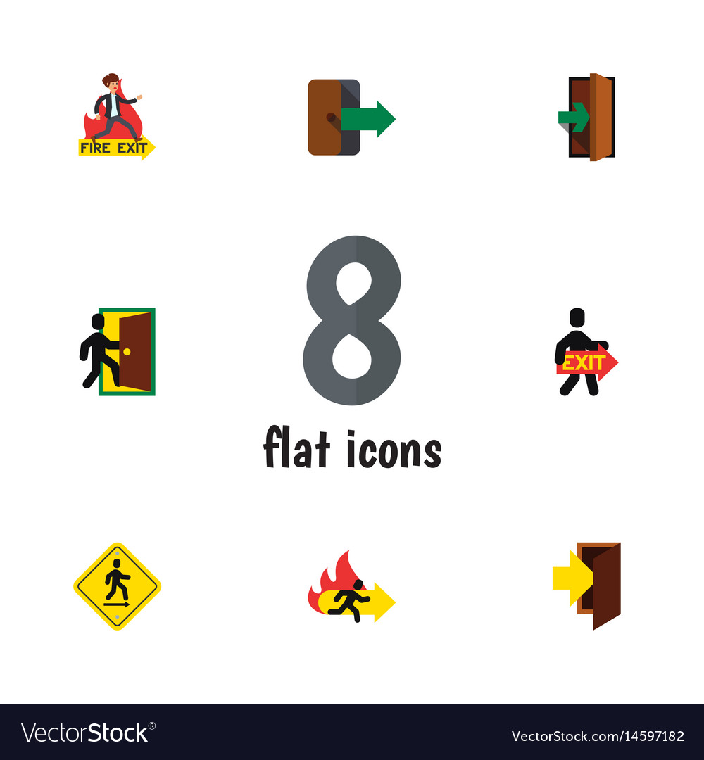 Flat evacuation set of entry directional vector image