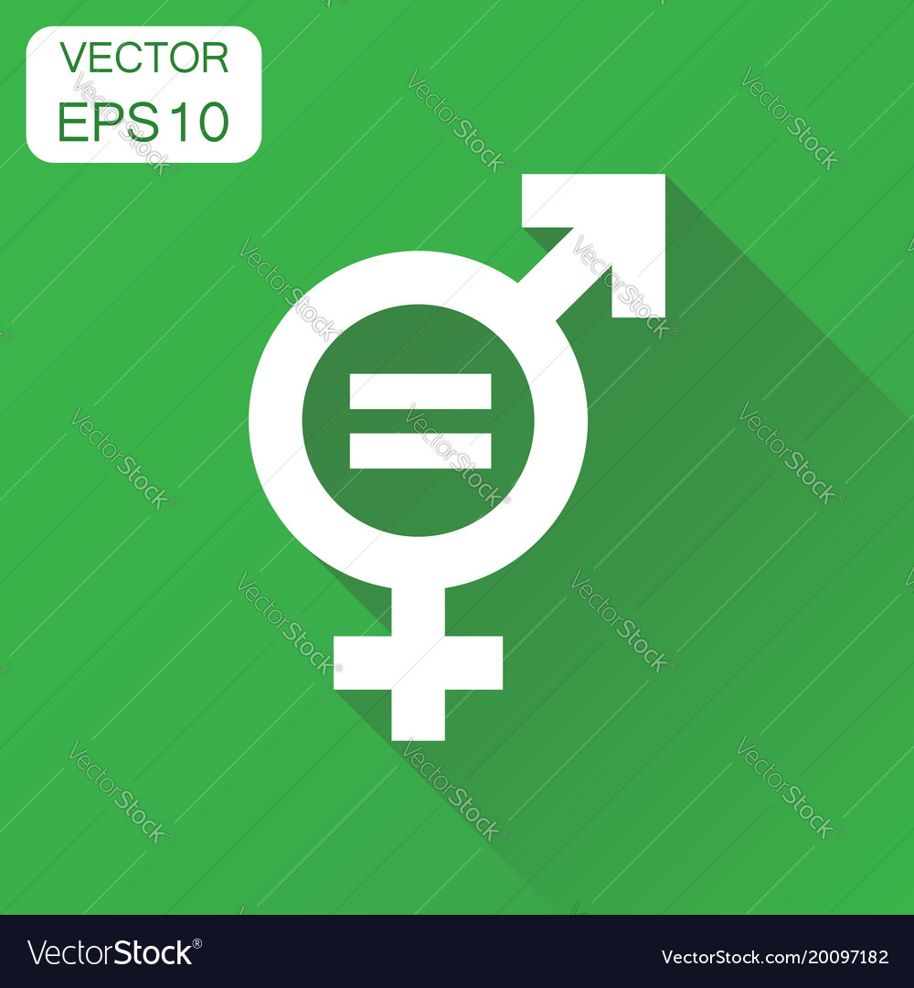 Gender equal sign icon business concept men and vector image