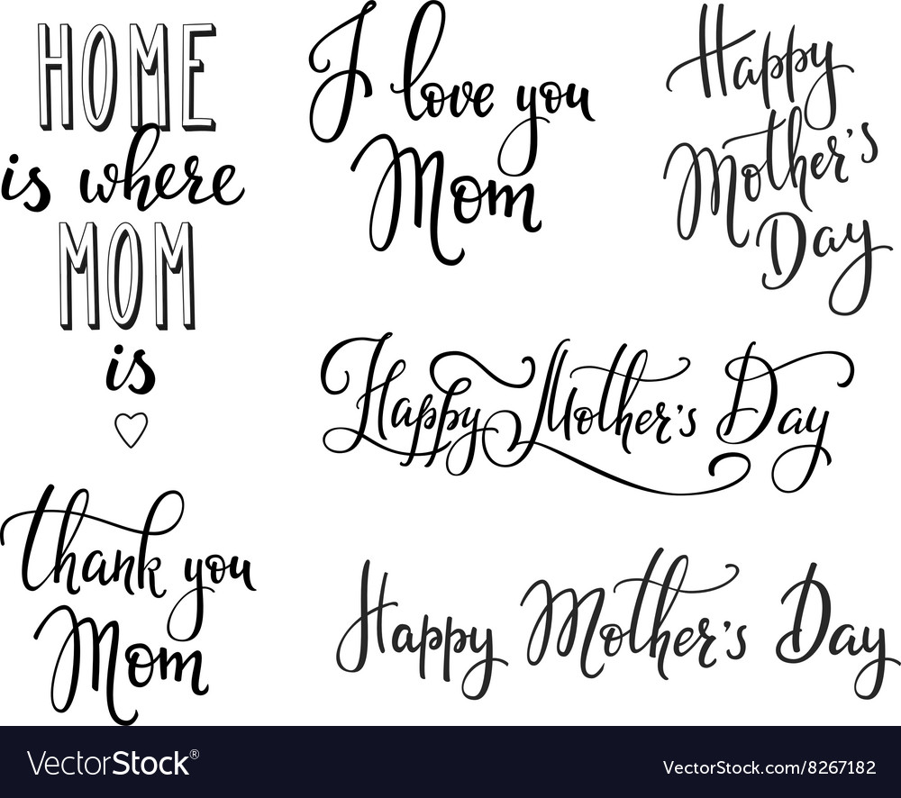 Happy Mothers day typography vector image