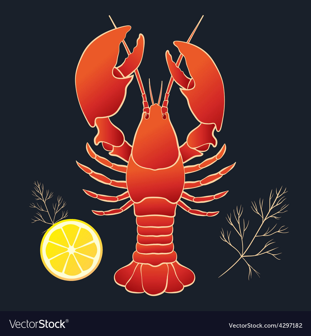 Lobster with lemon and dill