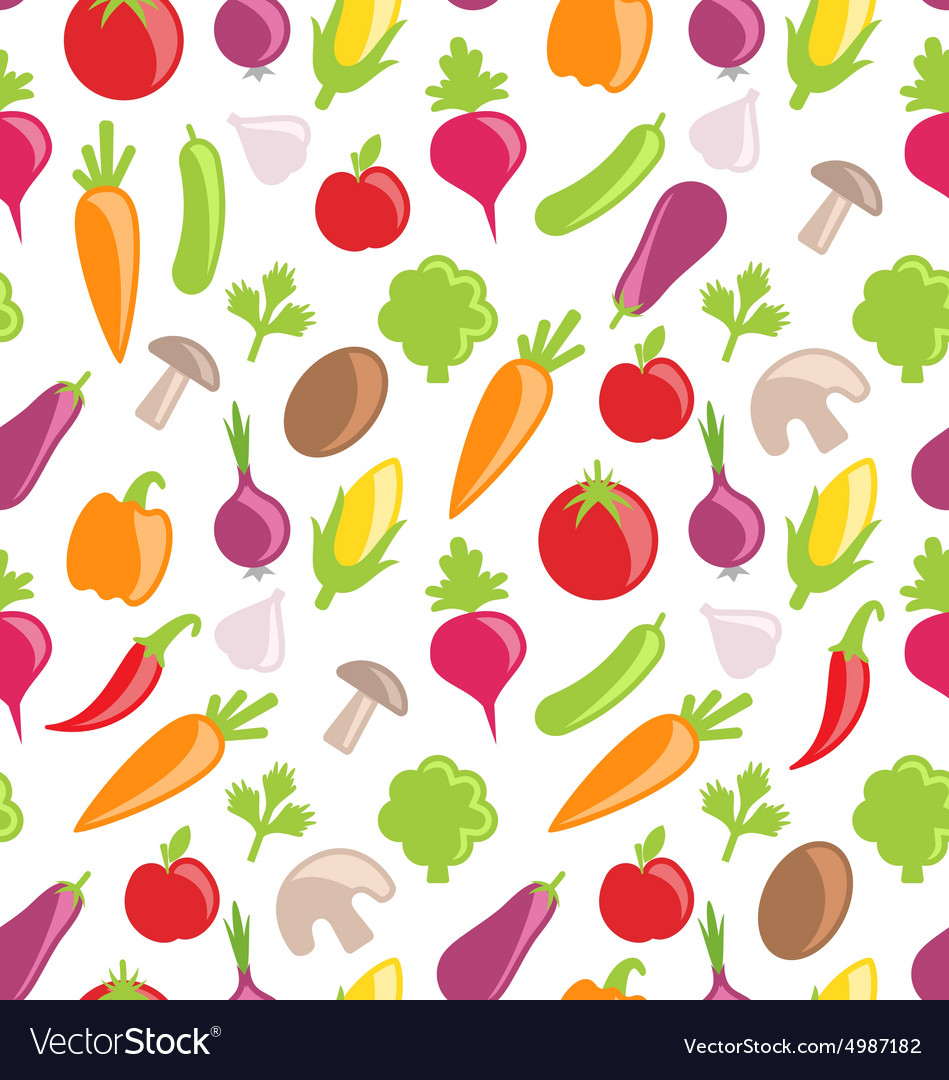 Seamless Texture of Colorful Vegetables