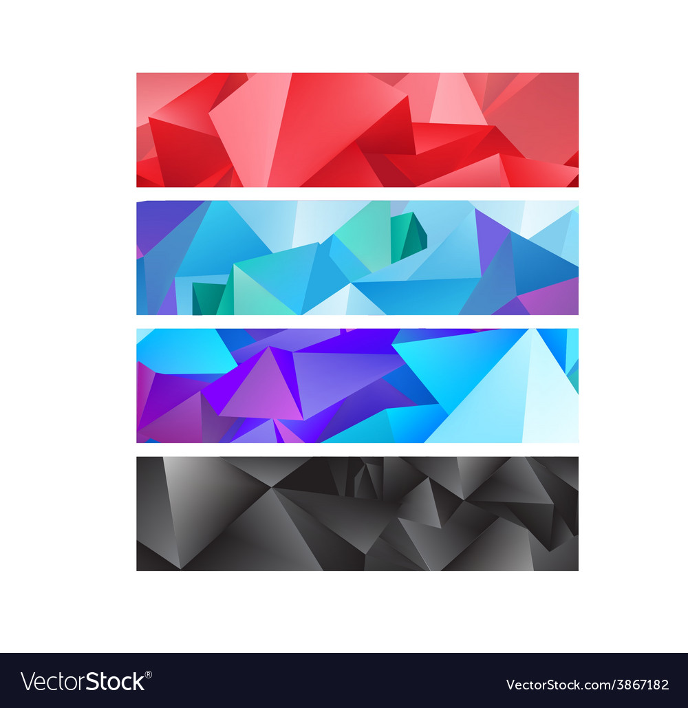 Set of abstract colorful banners