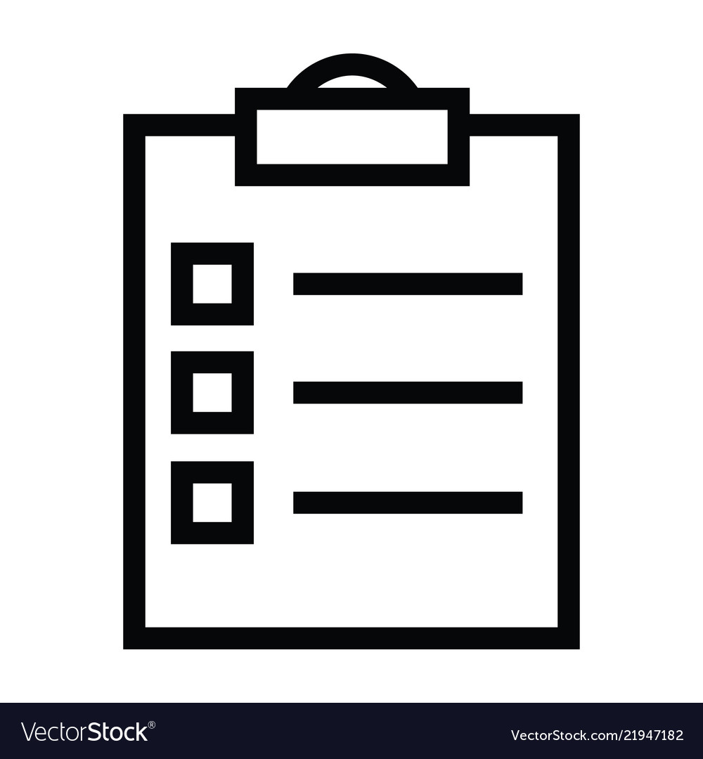 Tasklist clipboard icon with outline style