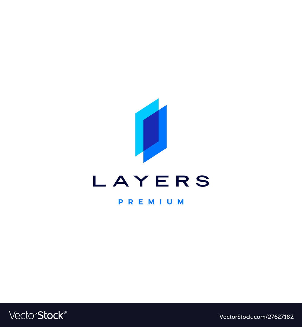 Transparent layers logo icon in overlap