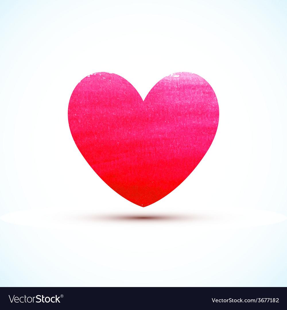 Watercolor paint heart