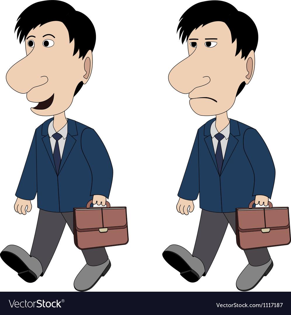 A man with a briefcase vector image