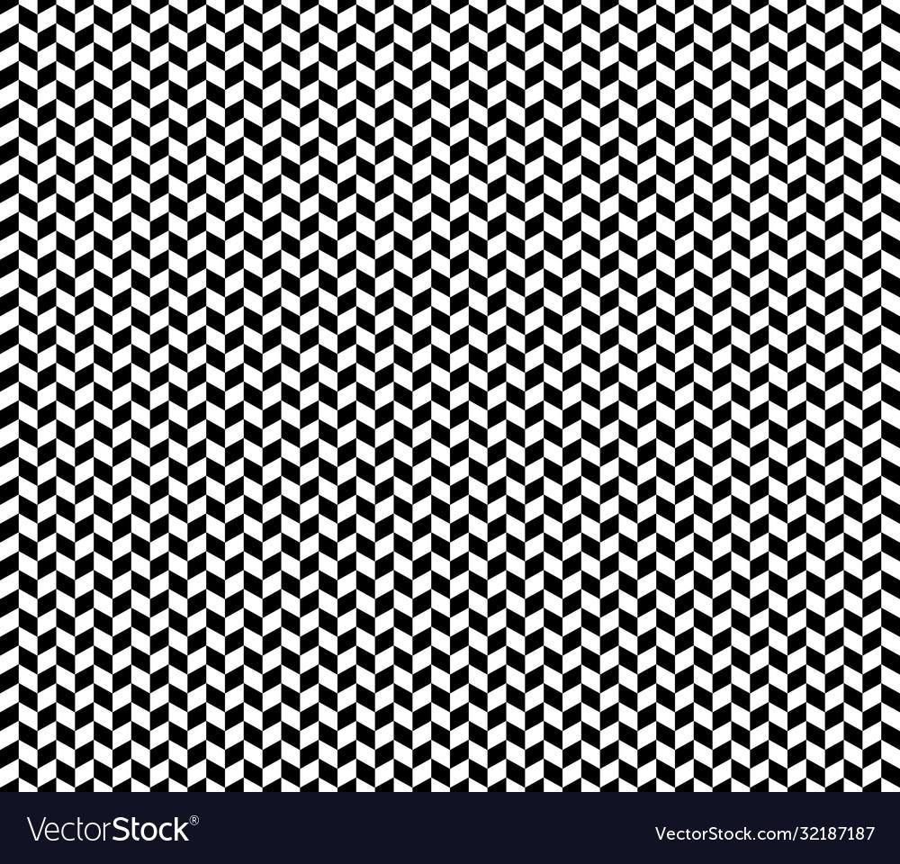 Black an white herringbone check pattern