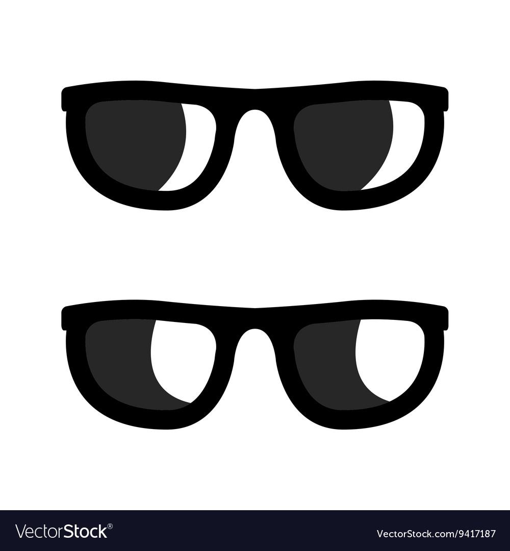 Black sunglasses icons set