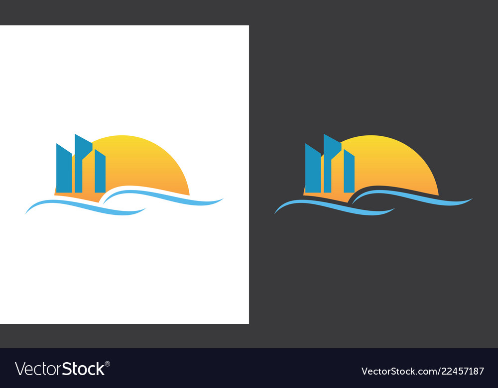 Building sunrise logo