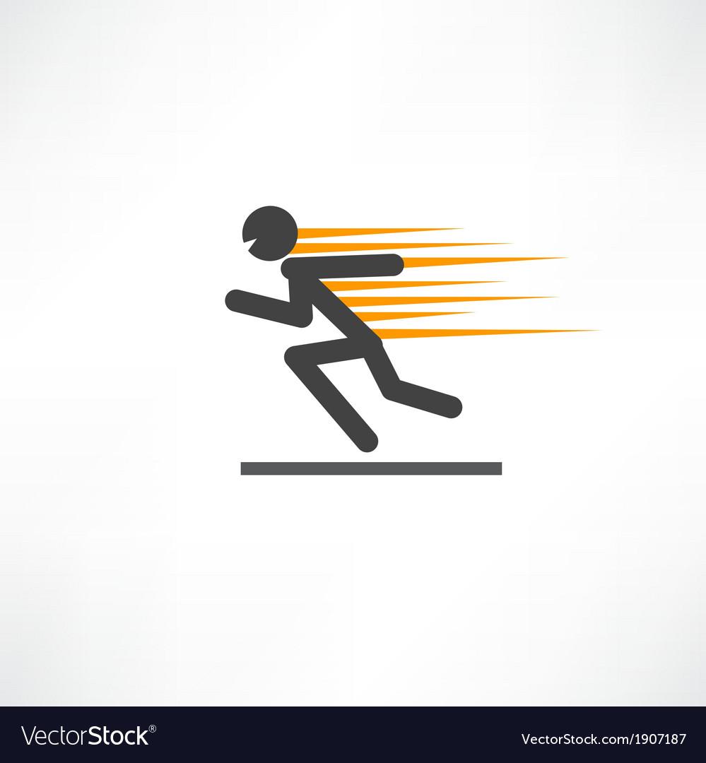 Fast runner vector image