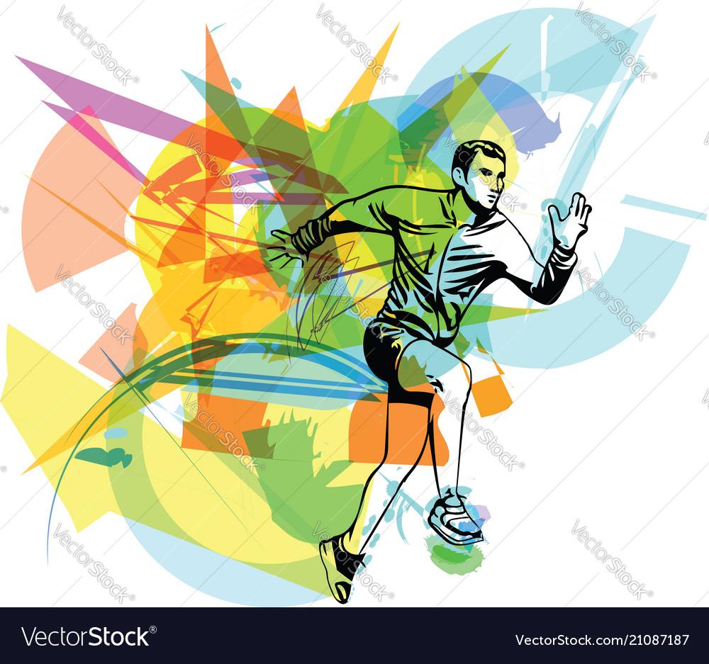 Fitness sports runner man jogging