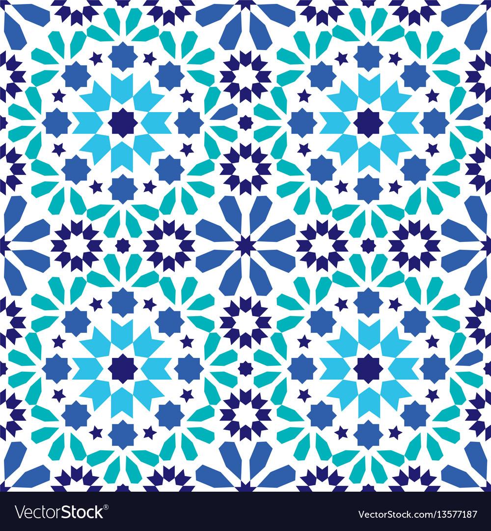 Moroccan Tiles Design Vector Image