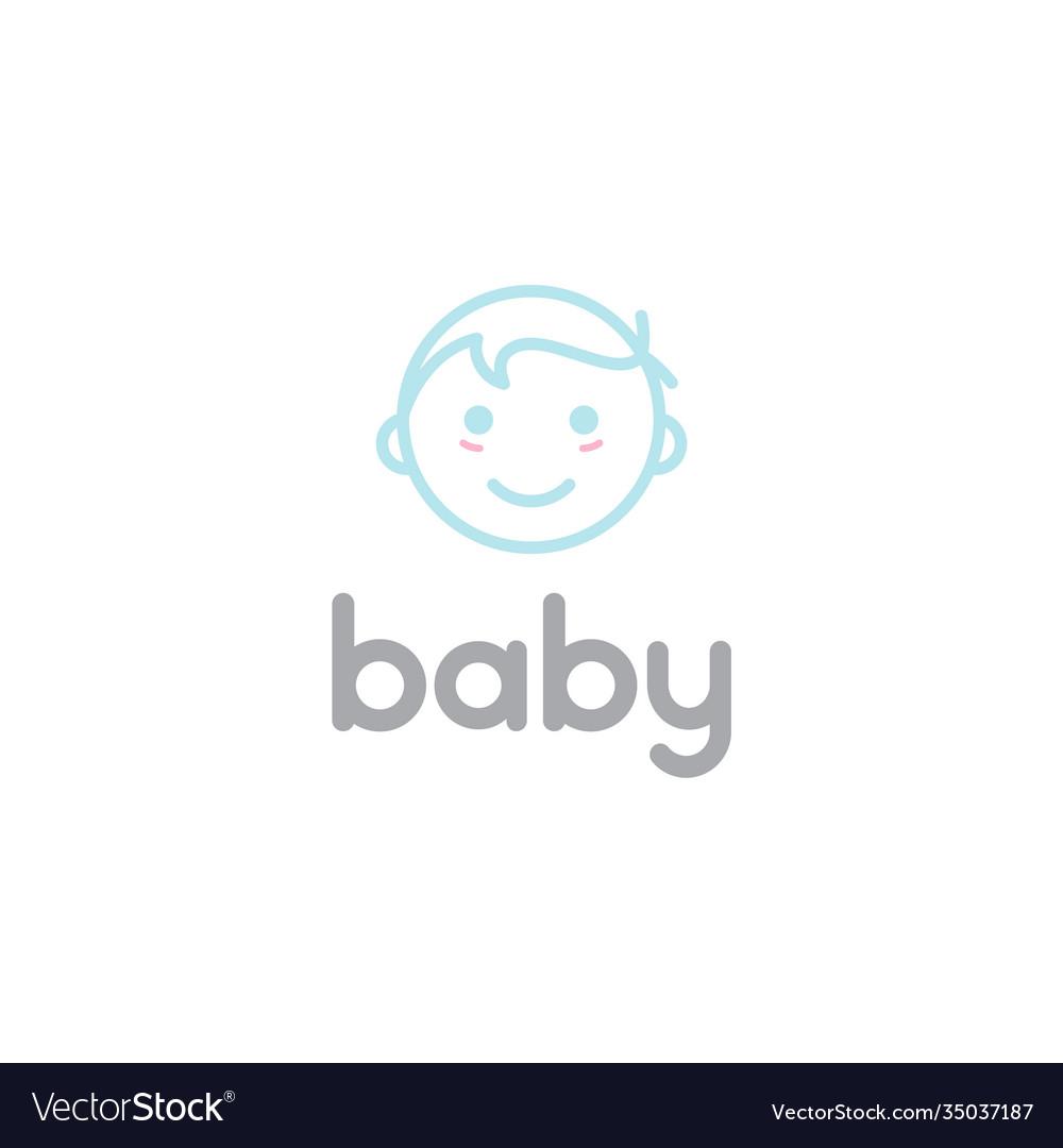 Happy baby toddler babies line outline line art