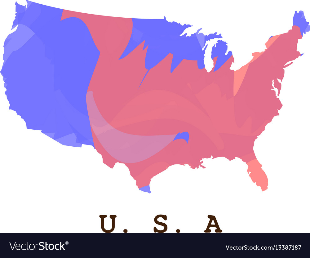 American Map Vector.Isolated American Map Royalty Free Vector Image