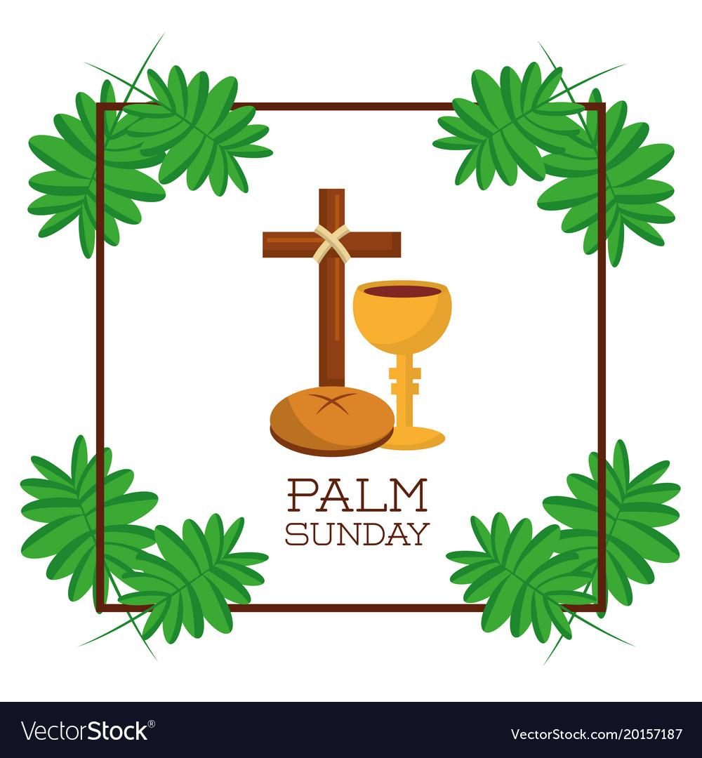 Palm sunday card invitation celebration religious vector image stopboris Image collections