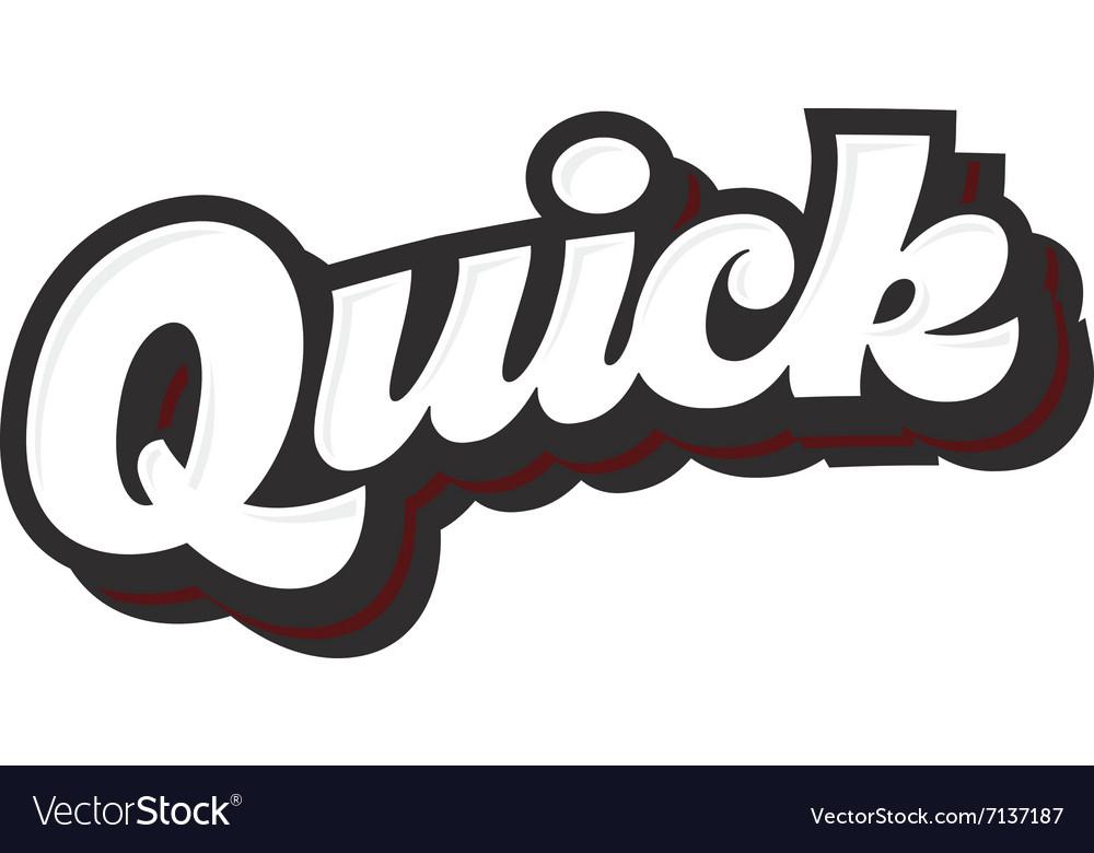 Quick lettering sketch logo