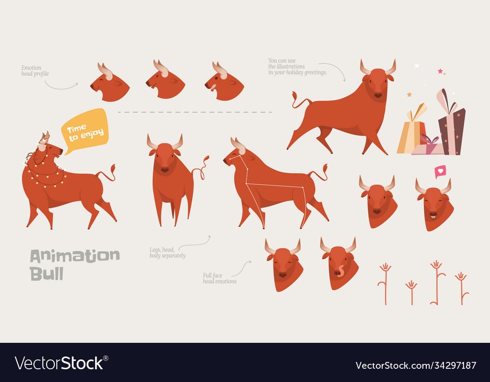 Reindeer cartoon locomotion