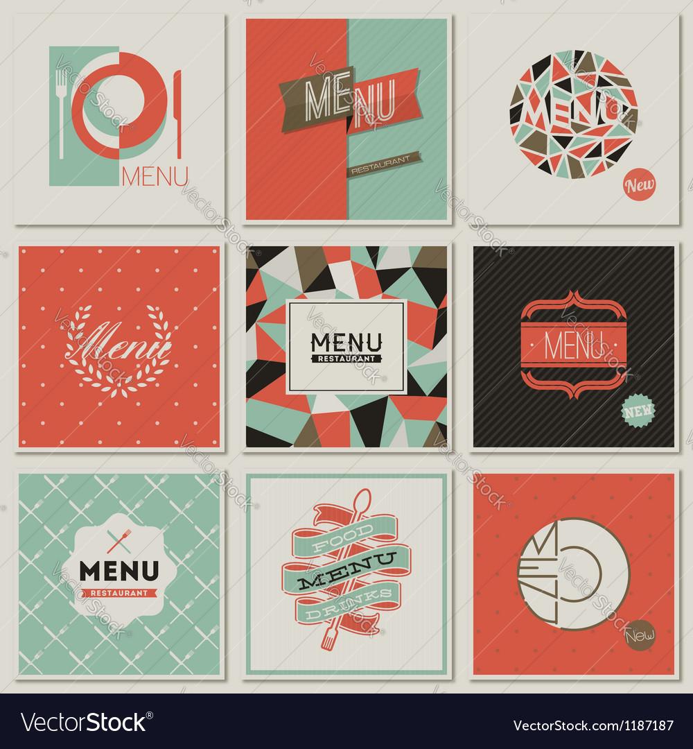 Restaurant menu designs - retro-styled collection